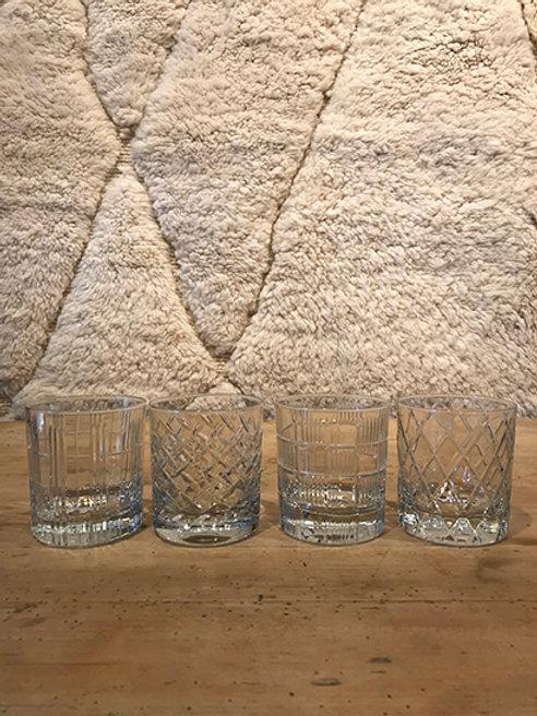 Whisky tumbler glass, set of 4