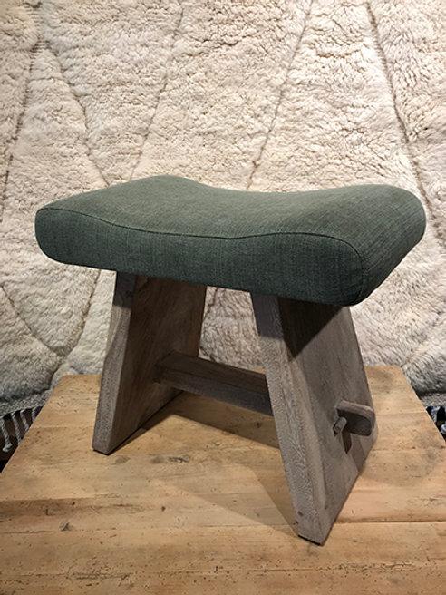 Stool upholstered & Suar wood frame