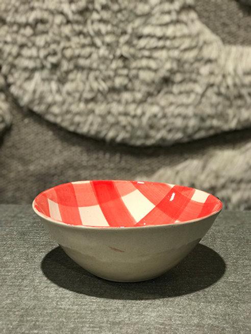 Soup bowl pattern red