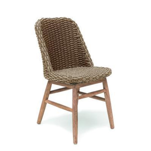 Chair teak with PP wicker natural