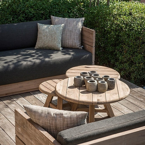 Outdoor coffeetable reclaimed teak in different sizes