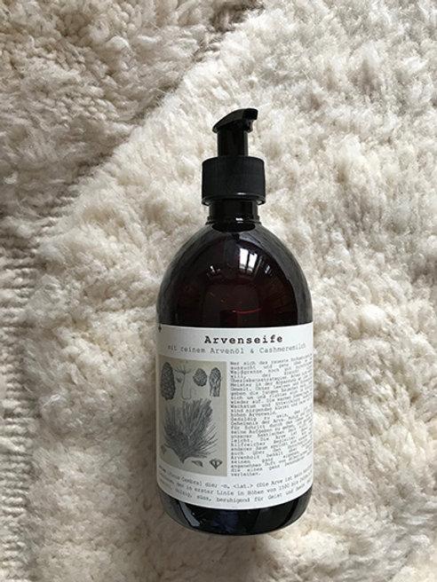 Cashmere milk liquid soap with pure pine oil