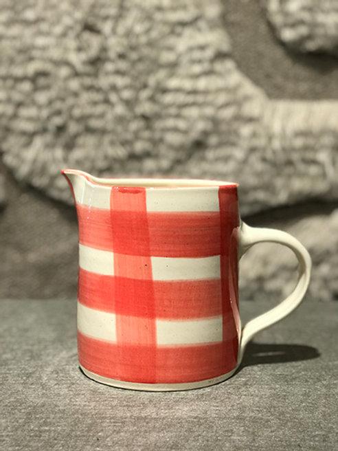 Jug big red pattern