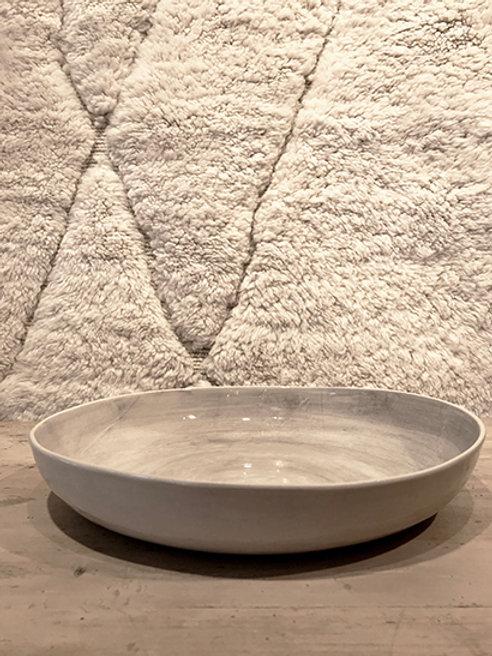Pie dish plain warm grey