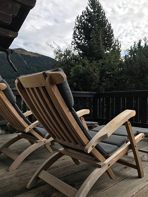 Outdoor Deckchair Teak incl. cushion