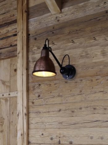 Outdoor wall light copper
