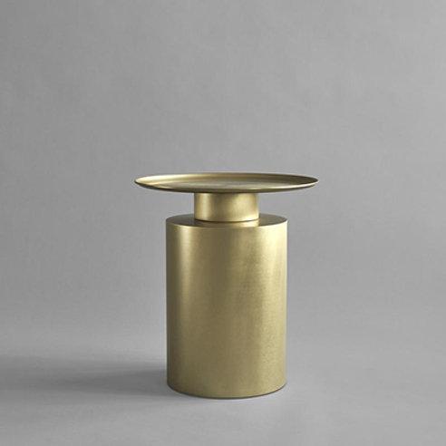 Coffeetable tall brass