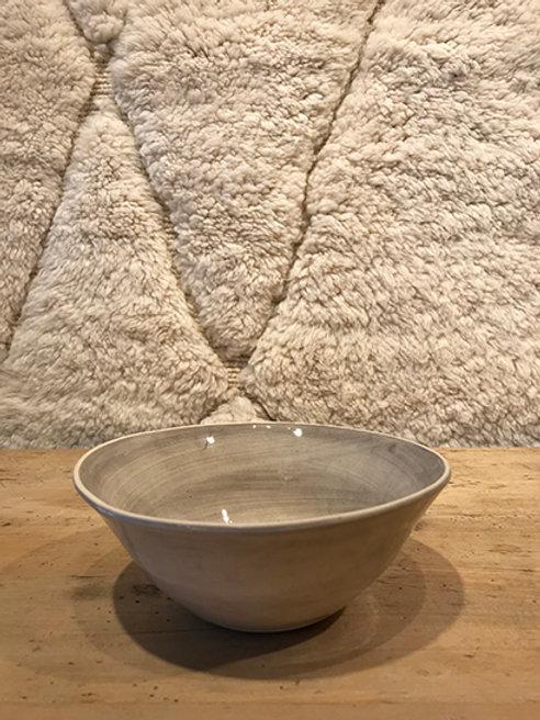 Soup bowl plain warm grey