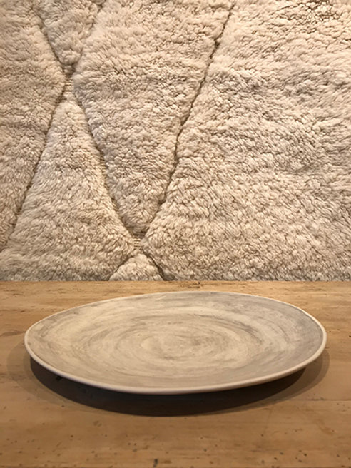 Dinner plate warm grey