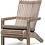 Thumbnail: Outdoor lounge chair teak natural grey