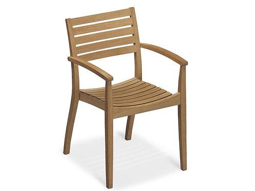 Stackable chair teak