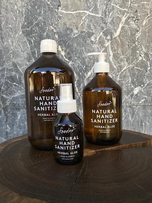 Natural hand sanitizer - herbal aloe