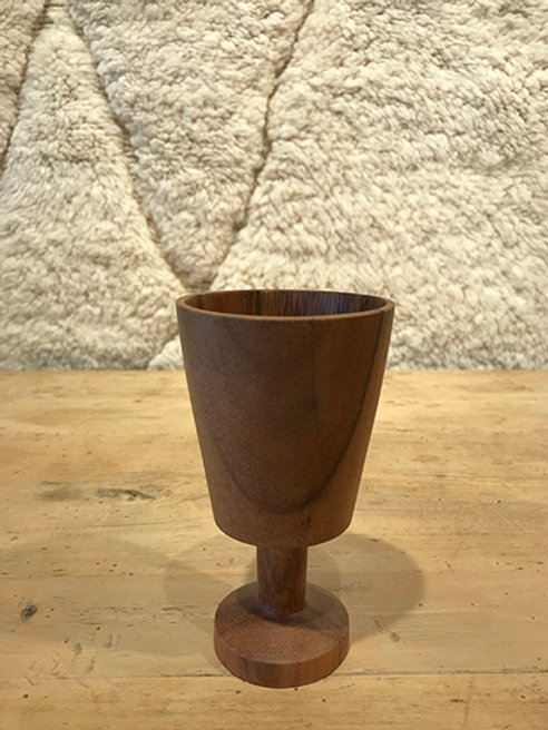 Wine goblet acacia wood