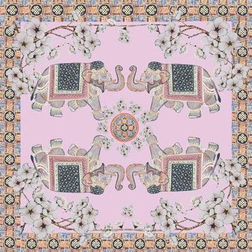 Cashmere scarf ELEPHANT 140x140cm pink