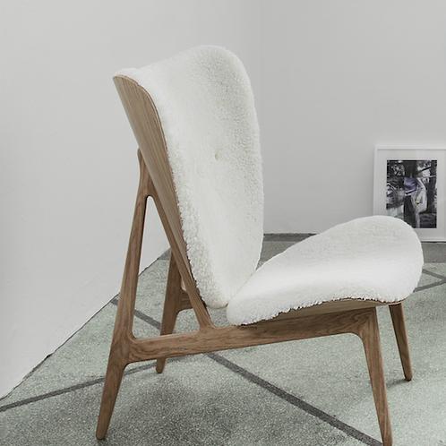 Modern lounge chair sheepskin