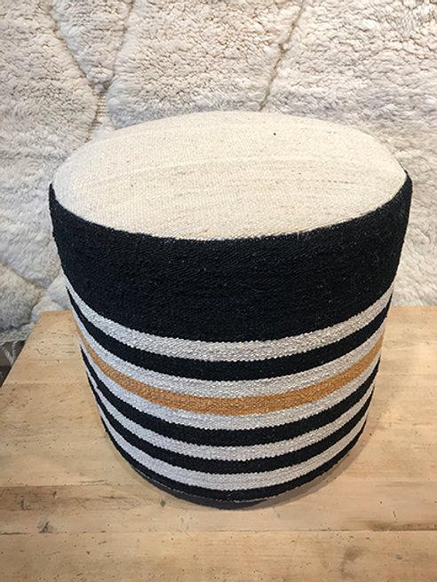 Kilim pouf striped