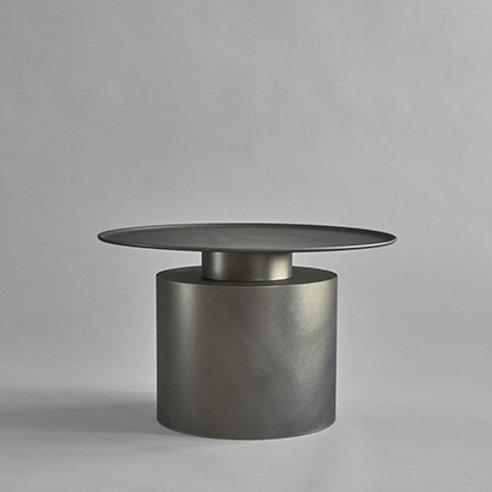 Coffeetable tall, zinc