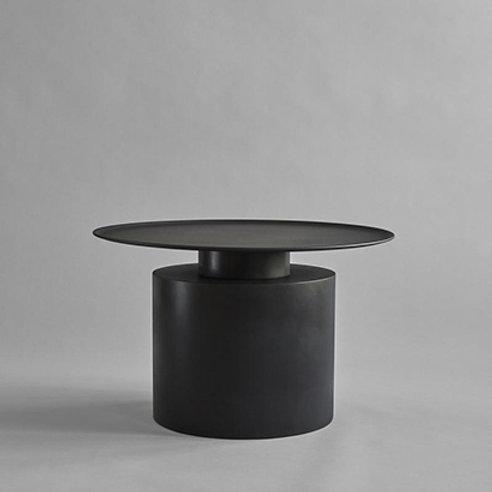 Coffeetable tall, burned black