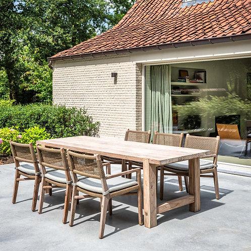 Table reclaimed  Teak natural grey 290cm or 250cm