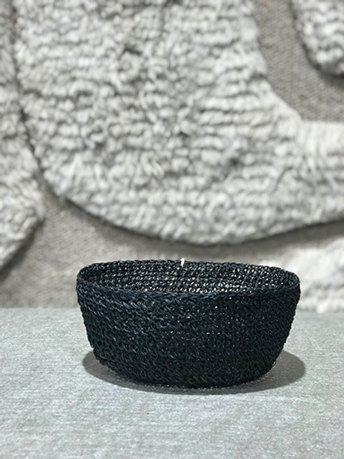 Bowl crochet black ø18cm