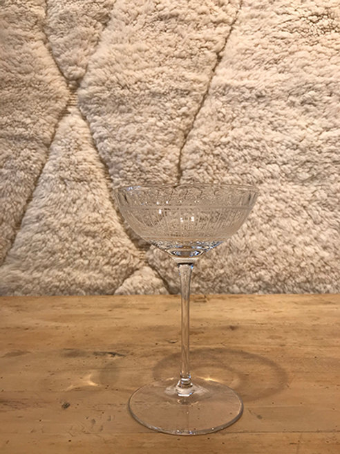 Crystal champagne coupe clear