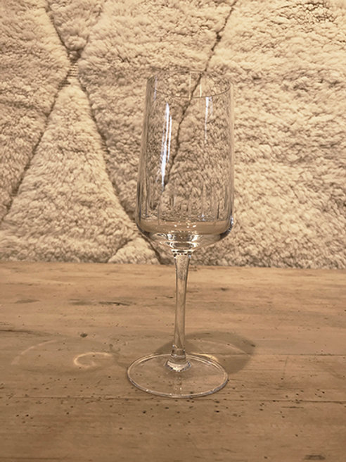 White wine glass crystal