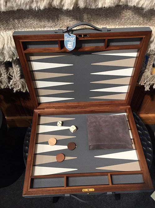 Handmade leather Backgammon Set Case