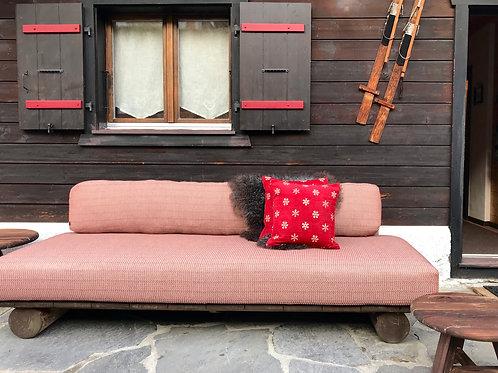 Lounge Sofa reclaimed Teak natural grey