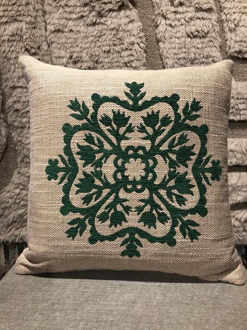 Cushion linen stitched 43x43cm