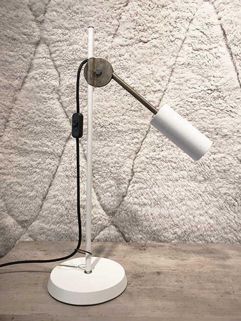 Table lamp raw brass/white