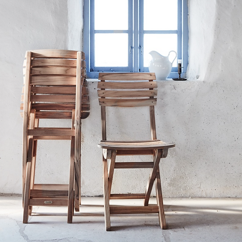 Chair foldable teak VEN