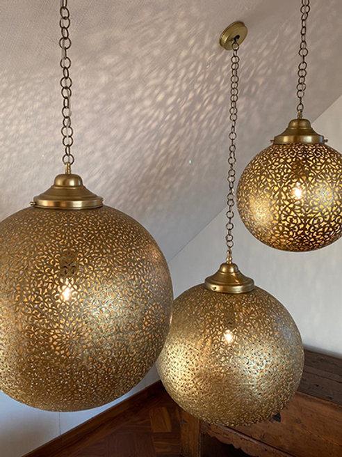 Handmade brass lamps