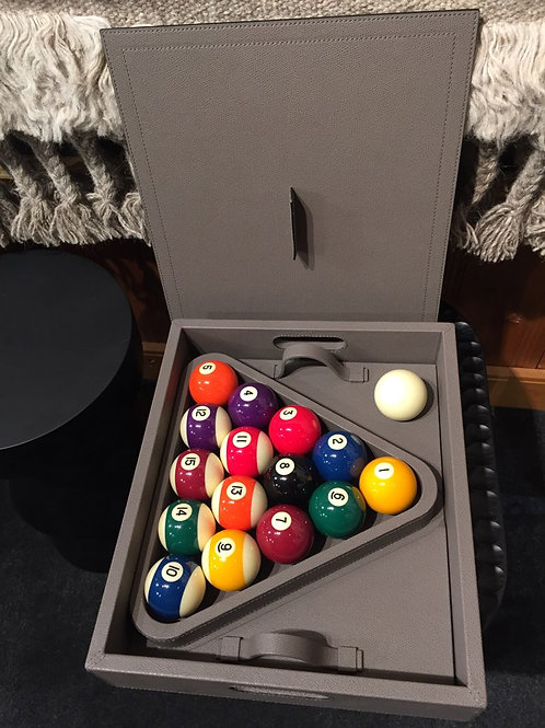 Handmade leather Pool Ball carrying case