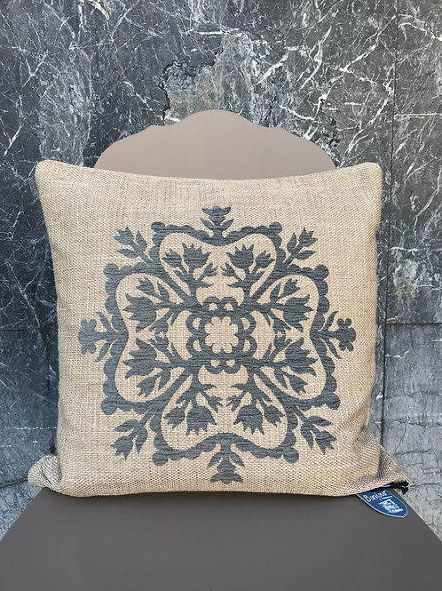 Cushion linen stitched 43x43 cm