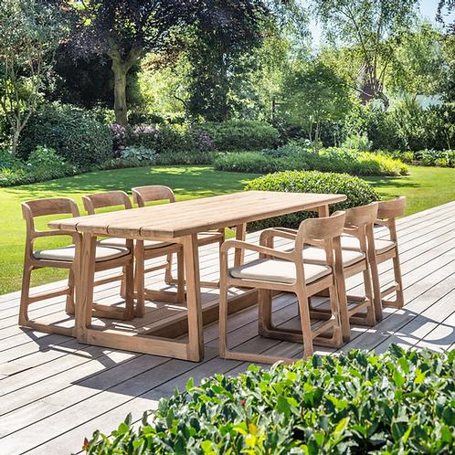 Table reclaimed teak natural grey 250cm