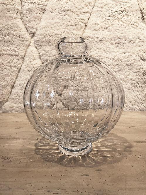 Vase bulbous clear