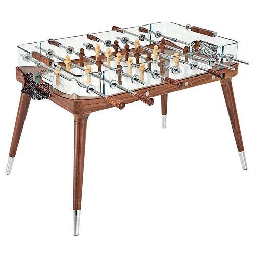 Luxury Football table walnut & crystal glass