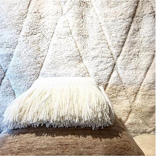 Moroccan Berber rug natural white
