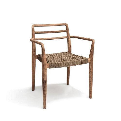 Stackable armchair teak