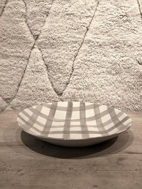 Plate deep XL pattern warm grey