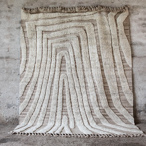 Hand-knotted wool carpet 220x280cm