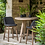 Thumbnail: Bartable teak round ø95cm and bar chairs charcoal