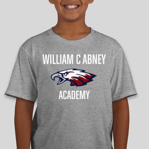 Kids Abney Large Logo T-Shirt Grey