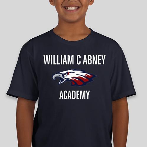 Kids Abney Large Logo T-Shirt Navy