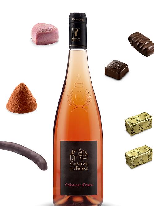 Rosé semi seco do Vale do Loire e Chocolates Leonidas