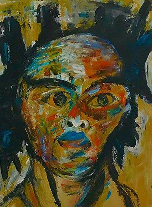 """Tableau """"huile sur toile"""" - Jean Michel Basquiat"""