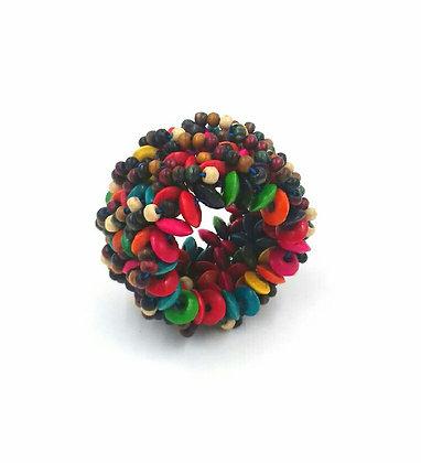 """Bracelet """"perles bois multicolore"""""""