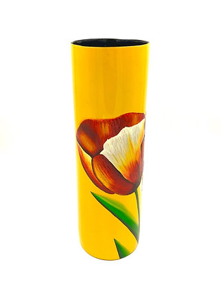 "Vase en laque ""motif fleurs"""