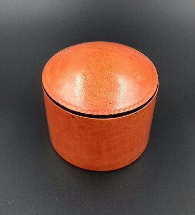 Boite en cuir orange