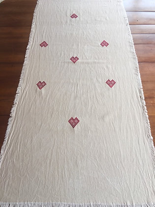 Chemin de table en coton naturel
